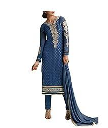Admyrin Women Dark Blue Salwar Kameez