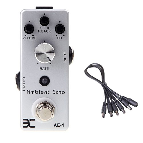 Global Sale Eno Audio Ex Ae-1 Ambient Echo Mighty Mini True Bypass+5 Way Daisy Chain Cable