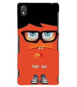 printtech Funny Cartoon Back Case Cover for Sony Xperia Z3::Sony Xperia Z3 D6653 D6603