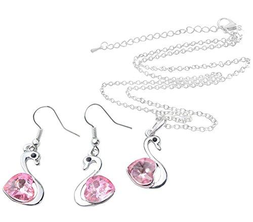 Efuture(Tm) 1 Pair Pink Crystal Bling Rhinestone Earrings With Efuture'S Nice Keyring