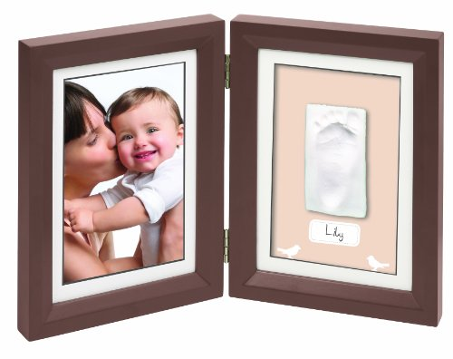 Baby Art 34120107 - Print Frame, Cornici per impronta mano/piede, Marrone, Marrone (braun)