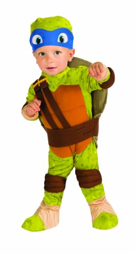 Nickelodeon Ninja Turtles Leonardo Romper Shell and Headpiece, Green, Toddler