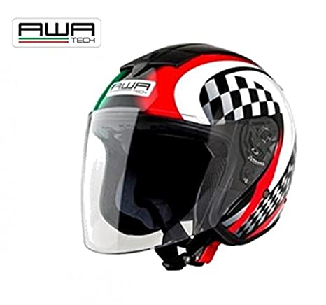 AWA tech casque jet taille xL (full-jet graphic