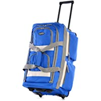 Olympia 8-Pocket Rolling Duffel Bag Collection - Royal Blue