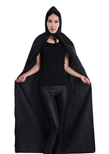 Costumi di Halloween, strega mantello/Cape , black , Free