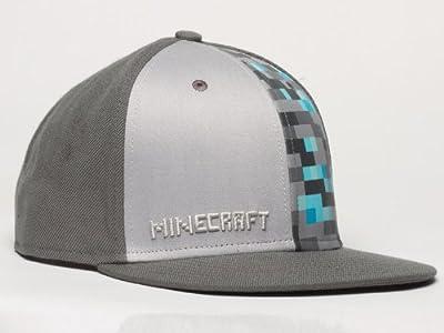 Minecraft Diamond Crafting Premium Snap Back Hat Gray by Jinx