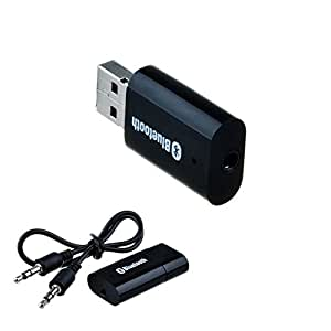[With AC Adapter] VicTsing® Portable USB Bluetooth Audio Music Streaming Receiver Adapter with 3.5 mm Stereo Output Black