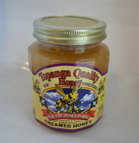 Topanga Quality Honey Creamed Honey - Raw, Unfiltered, Unpasturized, Best Quality, All Natural, Kosher - 12oz