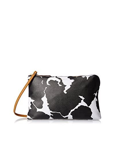 Isaac Mizrahi Women's Mable Clutch, Cow Print