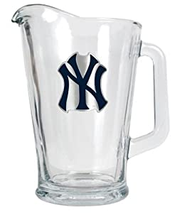 MLB New York Yankees 60-Ounce Glass Pitcher - Primary Logo by Great American Products