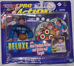Deluxe Roger Clemens Action Figure with Real Fastball Action and Strike-out Target - Starting Lineup Pro Action Series