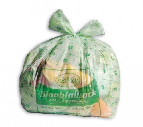 Biomat Lot de 26sacs 100% biodégradables pour compost - Avec poignées - 10L