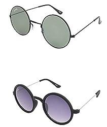 Benour BENCOM009 Combo Unisex Sunglasses