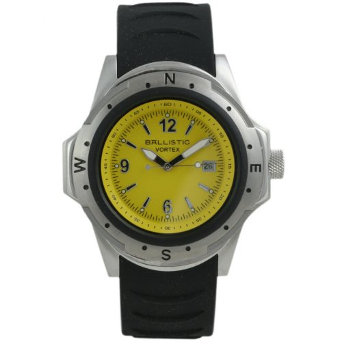 Ballistic Gents Yellow Dial Rubber Strap Watch