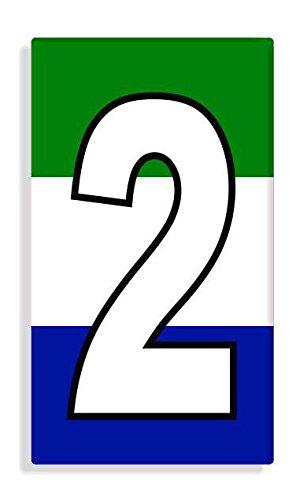 Sierra Leonean - Sierra Leone Flag Number 2 Sticker Self Adhesive / Aufkleber Für Wheelie Bin / Haustür / Mülltonne / Mülleimer - Anzahl wählen