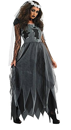 Dreamall Women's Halloween Zombie Bride Tattered Fancy Custome