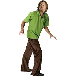 Scooby Doo Adult Shaggy Costume, Green, One Size
