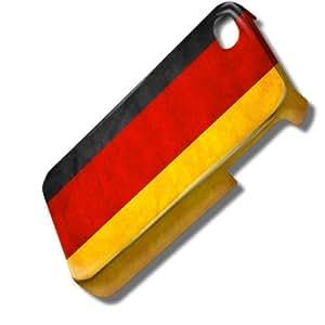Drapeaux Allemagne 1, Carte du Monde, 3D Design Coque Arriere Rigide Coquille Housse Case Cover Couverture avec Dessin Coloré pour Apple iPhone 4 4S.