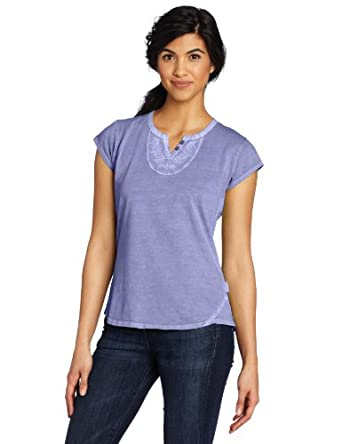 Woolrich Women's First Fork Embroidered Top, Lilac, X-Large