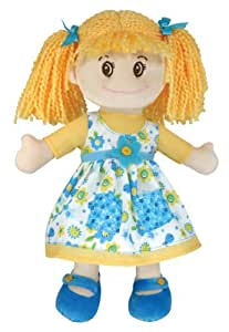"Stephan Baby My Best Friend 14"" Rag Doll with Removable Outfit, Lacie"
