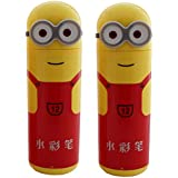 Gifts Online Minions 12 Piece Sketch Markers Pencil Box (Set Of 2 Total 24 Pens) - Red - Ideal For Scrapbooking...