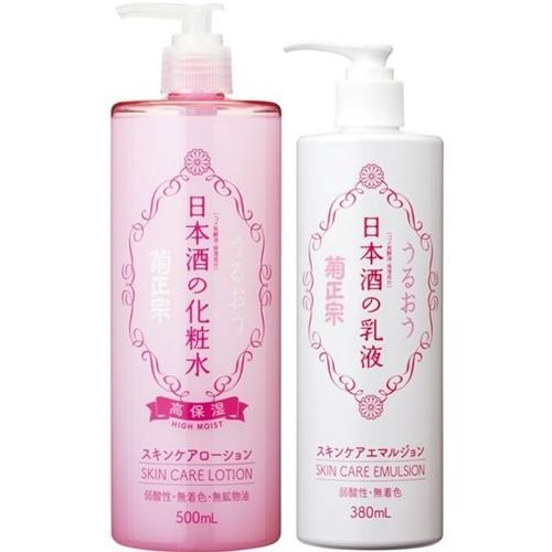 菊正宗 日本酒の化粧水 500ml+乳液380mlセット