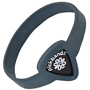 Pickbandz Bracelet Timberwolf Grey Extra Large - Guitar Pick Holder Bracelet