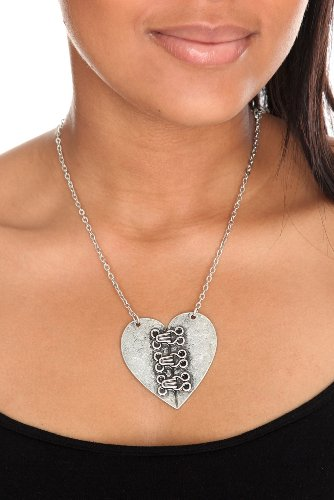 Corset Heart Necklace