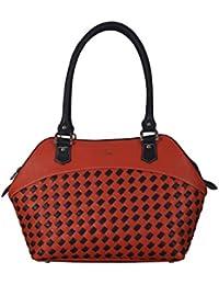 Adamis Beautiful Designed Handbag (Orange_B739)