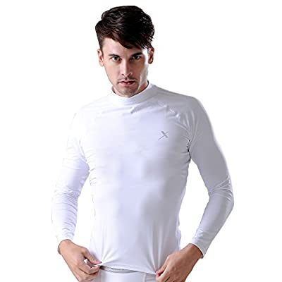 GearX Men's Summer Long Sleeves Mock-neck Compression Base Layer