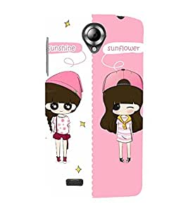 Vizagbeats Girls Pink Caps Back Case Cover for Lenovo 820