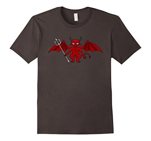 [Men's The Goblin Demon Halloween Costume Shirt Medium Asphalt] (Epic Halloween Costumes For Men)