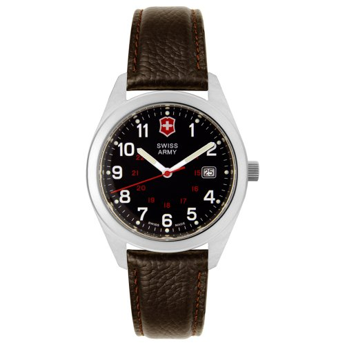 Victorinox Swiss Army Mens Leather Watch