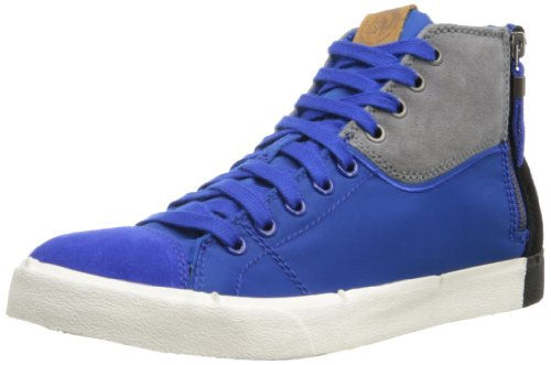 Diesel Men's D-velows D-zippy Fashion Sneaker,Nautical Blue/Grey Gargoyle/Black,10.5 M US