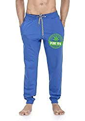 WYO Wear Your Opinion Men's Jogger Track Pant with Zipper Pocket in Pure Veg Printed
