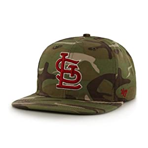 St. Louis Cardinals Camouflage Air Drop Leather Strap Adjustable Strapback Hat Cap by