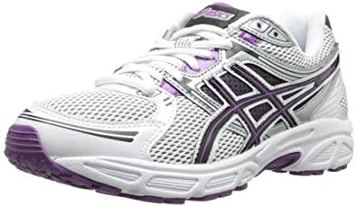 ASICS Women's GEL-Contend Running Shoe,White/Black/Purple,9 M US