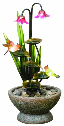 Easy Fountain Nature Glow Garden Paradise Includes LED Lights