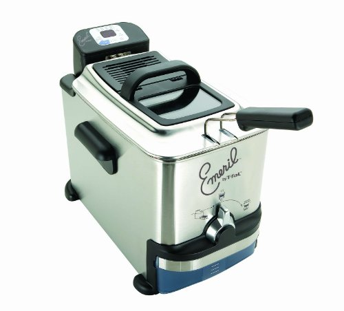 Emeril by T-fal FR700951 2.65-Pound / 3.3-Liter Stainless Steel Digital Immersion Deep Fryer with Easy Clean System, Silver