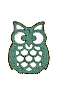 Blue Iron Owl Trivet by World