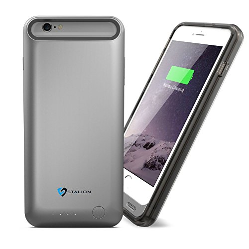 iPhone 6 Plus Battery Case : Stalion® Stamina Rechargeable Extended Charging Case  with 2 Interchangeable Frames + LED Charge Indicator Light