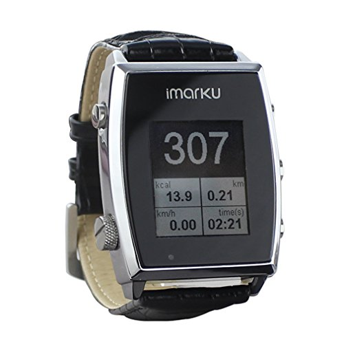 Imarku® Smart watch Wrist Watch Pedometer fitness tracker with Genuine Leather Band for Android Phone Smartwatch