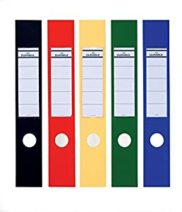 durable ordofix spine labels self adhesive pvc for lever arch file assorted colours ref 8090. Black Bedroom Furniture Sets. Home Design Ideas