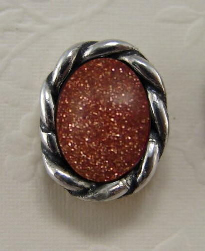 Goldstone Sterling Silver Stud Earrings When You Need Just a Little Bit of Color