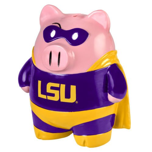 LSU Tigers Piggy Bank - Large Stand Up Superhero - 1
