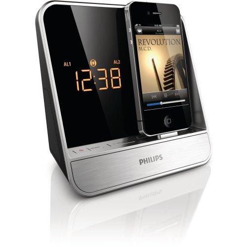 Philips AJ5300D/37 Alarm Clock Radio for 30-pin iPod/iPhone (Silver)