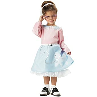 50's Poodle Cutie Costume: Toddler's Size 2T-4T