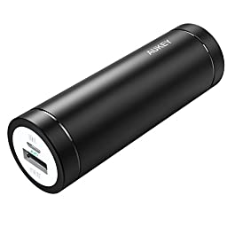 Aukey PB-N37 mini 5000mAh Ultra-Portable Power Bank for Smartphones - Black