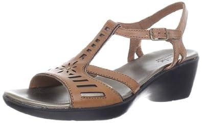 Clarks Women's Ella Jingle Casual Wedge Sandal Tan 6.5 M US