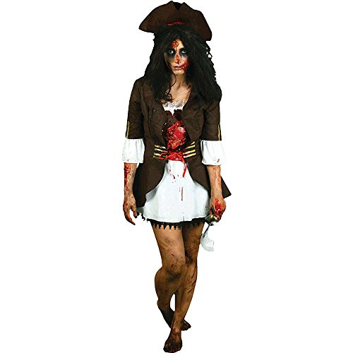 Morphsuits Women's Morphcostume Co Beating Heart Pirate Digital Female Costume
